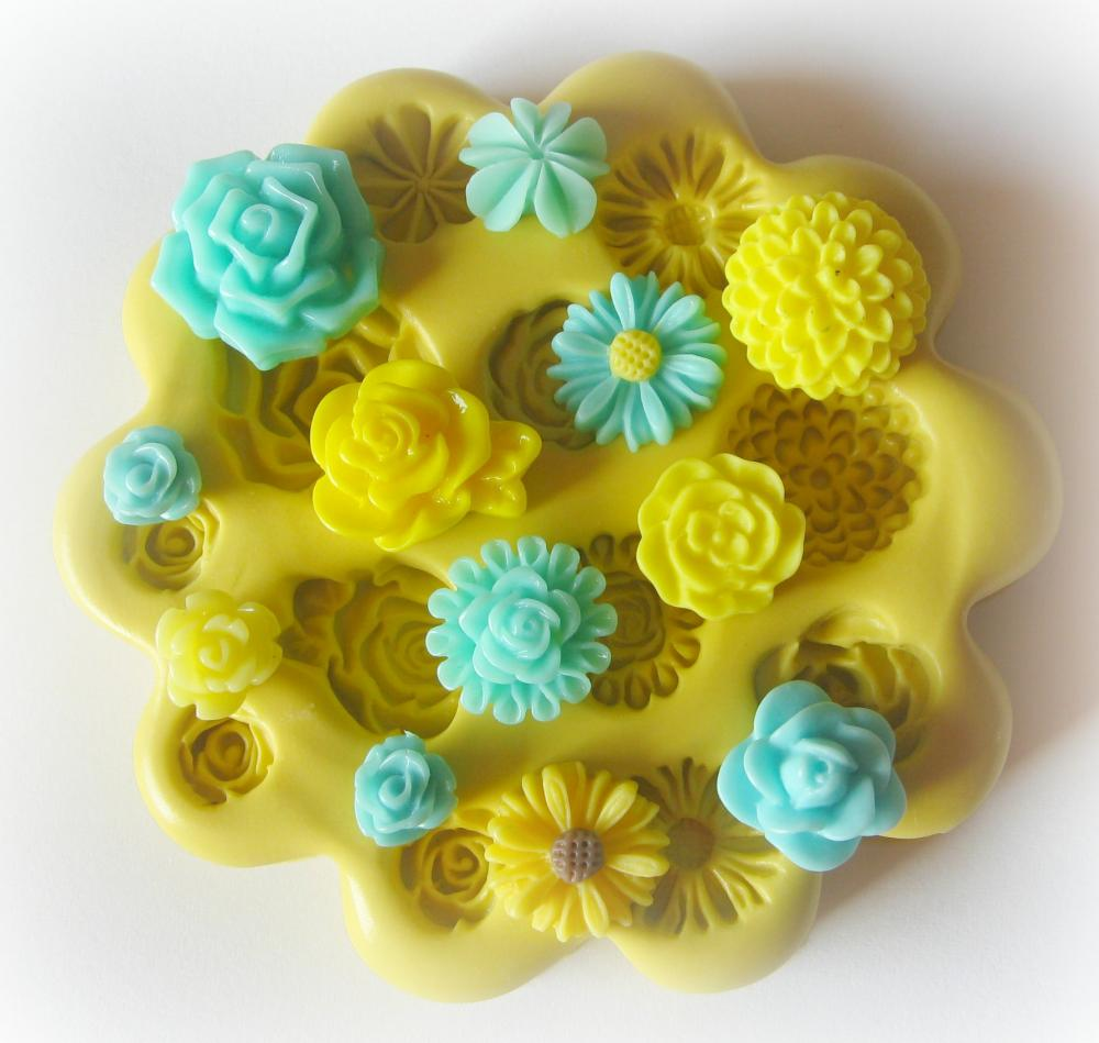 Polymer Clay Charm Mold Silicone Cabochon Flexible Mold